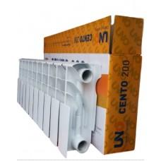 Низькі біметалеві радіатори Uno Cento 200/100 мм