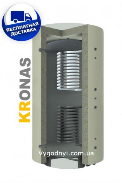 Теплоакумулятор Кронас ТА2.1000 ГВП (2 змійовика)