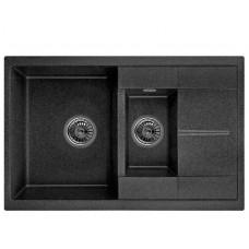 Гранітна мийка Minola MPG 5360-77 чорний колір