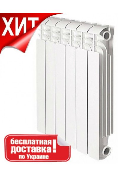 Биметаллический радиатор Breeze Plus 500/80  6, 8, 10, 12 секций