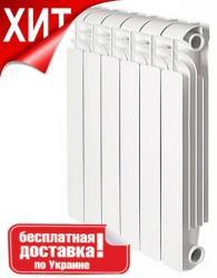 Биметаллический секционный радиатор для отопления Breeze Plus 500 (Бриз плюс 500),  6, 8, 10, 12 секций