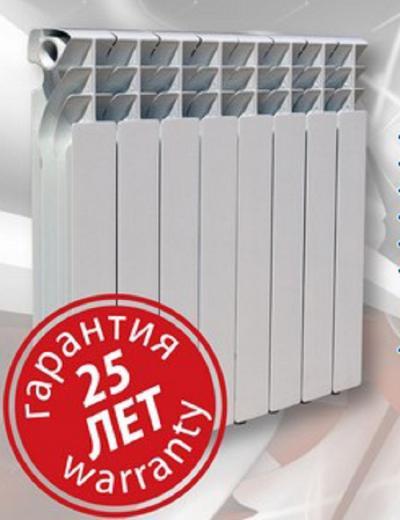 Биметаллический радиатор Ekvator 7 секций